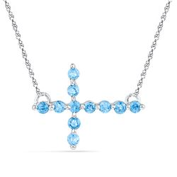 925 Sterling Silver White 0.22CTW DIAMOND BT NECKLACE