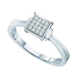 925 Sterling Silver White 0.05CTW DIAMOND MICRO PAVE BA