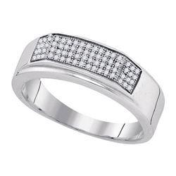 925 Sterling Silver White 0.20CT DIAMOND MICRO-PAVE MEN