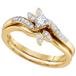 10K Yellow-gold 0.26CTW DIAMOND FASHION RING