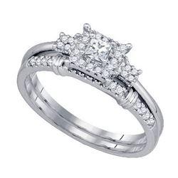 10KT White Gold 0.32CTW DIAMOND BRIDAL SET