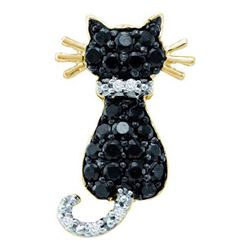 10KT Yellow Gold 0.33CTW DIAMOND CAT PENDANT