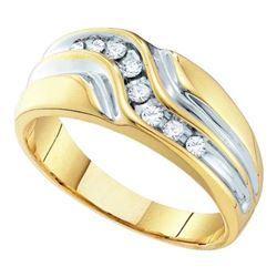 10K Yellow-gold 0.25CT DIAMOND FASHION MENS BAND