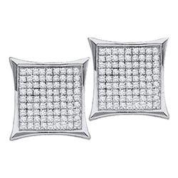 925 Sterling Silver White 0.05CT DIAMOND MICRO-PAVE EAR