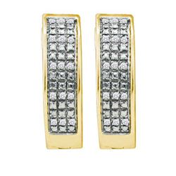 925 Sterling Silver Yellow 0.10CTW DIAMOND MICRO PAVE H