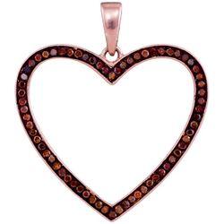 10KT Rose Gold 0.20CTW DIAMOND HEART PENDANT