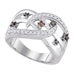 10K White-gold 0.33CTW DIAMOND COGNAC RING