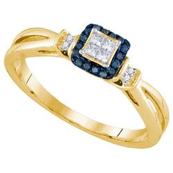 14KT Yellow Gold 0.16CTW DIAMOND INVISIBLE RING