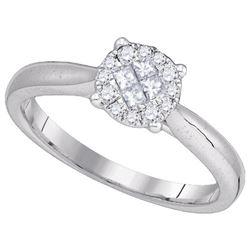 14KT White Gold 0.25CTW DIAMOND SOLIEL RING