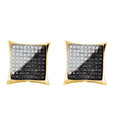 10KT Yellow Gold 0.75CTW DIAMOND MICRO PAVE EARRING