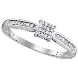 10KT White Gold 0.10CTW DIAMOND MICRO-PAVE BRIDAL RING