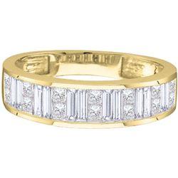 14KT Yellow Gold 0.25CTW PRINCESS BAGGUETTE DIAMOND LAD
