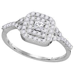 10KT White Gold 0.50CTW DIAMOND BRIDAL RING