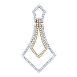 14K White-gold 0.43CTW DIAMOND FASHION PENDANT