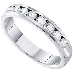 14KT White Gold 0.28CTW DIAMOND MACHINE-SET BAND