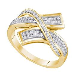 10KT Yellow Gold 0.25CTW DIAMOND MICRO PAVE BAND