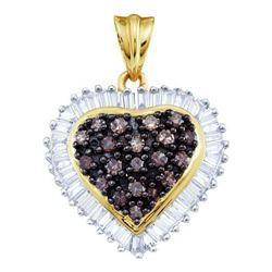 10KT Yellow Gold 1.0CTW COGNAC DIAMOND LADIES HEART PEN