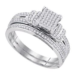 10KT White Gold 0.33CT DIAMOND MICRO PAVE RING