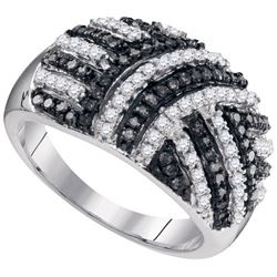 10KT White Gold 0.75CTW BLACK DIAMOND FASHION RING