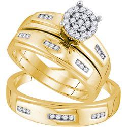 10K Yellow-gold 0.30CTW DIAMOND FASHION TRIO SET