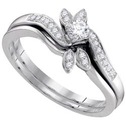 10KT White Gold 0.26CTW DIAMOND FASHION RING