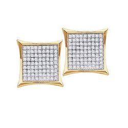 10KT Yellow Gold 0.23CTW ROUND DIAMOND LADIES MICRO PAV