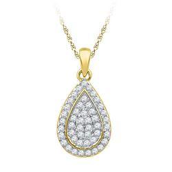 10K Yellow-gold 0.25CTW DIAMOND FASHOIN PENDANT
