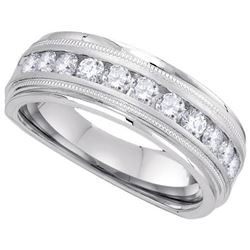 10KT White Gold 0.25CTW-Diamond MENS BAND