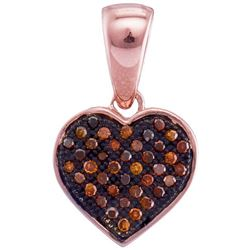 10KT Rose Gold 0.10CTW DIAMOND HEART PENDANT
