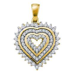 10KT Yellow Gold 0.33CTW DIAMOND HEART PENDANT