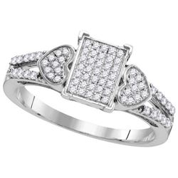 10KT White Gold 0.25CT DIAMOND MICRO-PAVE RING