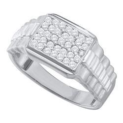 10KT White Gold 0.50CT DIAMOND FASHION MENS RING
