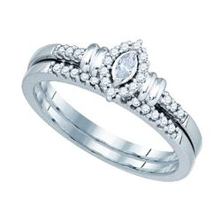 10KT White Gold 0.22CTW DIAMOND BRIDAL SET