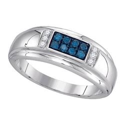 10KT White Gold 0.33CTW DIAMOND FASHION MENS RING