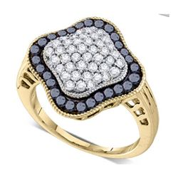 10KT Yellow Gold 1.00CTW DIAMOND FASHION RING