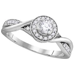 10KT White Gold 0.34CTW DIAMOND FASHION RING