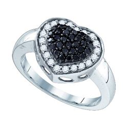 10KT White Gold 0.59CTW DIAMOND MICRO PAVE RING