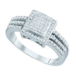10KT White Gold 0.35CTW DIAMOND MICRO PAVE RING