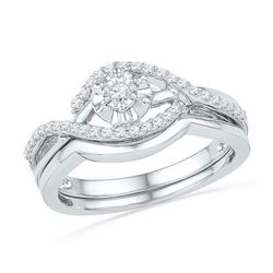 10KT White Gold 0.25CTW DIAMOND FASHION BRIDAL SET