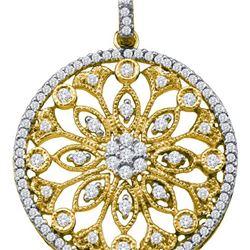 14K Yellow-gold 0.48CTW DIAMOND CIRCLE PENDANT