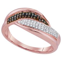 10KT Rose Gold 0.25CTW DIAMOND MICRO-PAVE RING