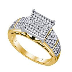 10KT Yellow Gold 0.33CTW DIAMOND MICRO PAVE RING