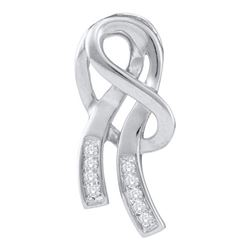 10KT White Gold 0.07CTW DIAMOND FASHION PENDANT