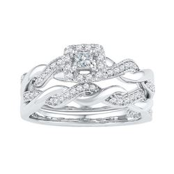 10KT White Gold 0.33CTW DIAMOND FASHION RING
