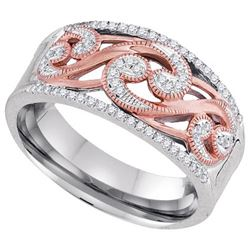 10KT White Gold Two Tone 0.18CTW DIAMOND FASHION RING