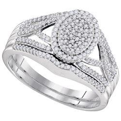 10KT White Gold 0.40CTW DIAMOND MICRO-PAVE BRIDAL RING