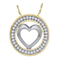 10KT Yellow Gold 0.10CTW DIAMOND HEART PENDANT