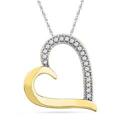 10K Yellow-gold 0.10CTW DIAMOND FASHION PENDANT