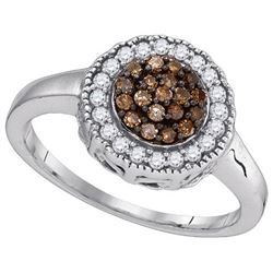 925 Sterling Silver White 0.33CT DIAMOND FASHION RING