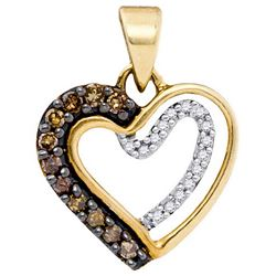10K Yellow-gold 0.20CTW DIAMOND HEART PENDANT